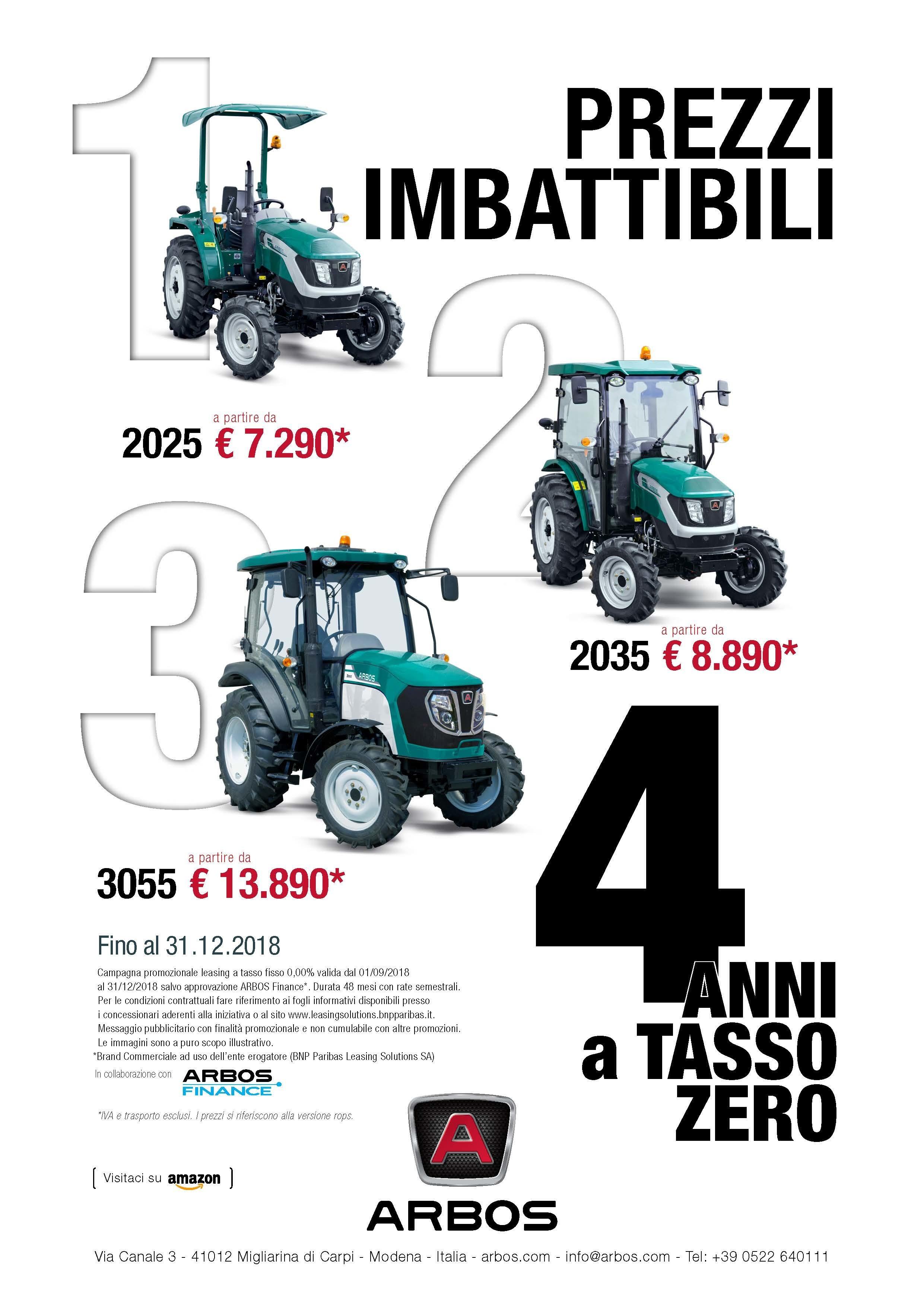 Prezzi imbattibili - promo ARBOS SERIE 2000 E 3000.jpg